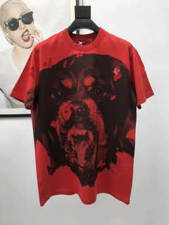 Red Givenchy Dog Tee