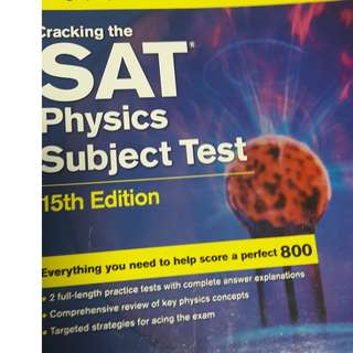 SAT physics kaplan book