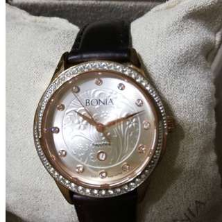 BONIA ROSE GOLD SAPPHIRE CRYSTAL WATCH