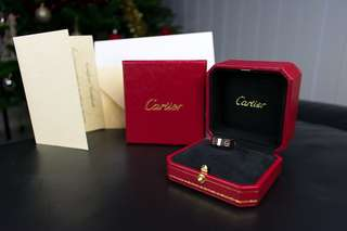 Cartier white gold love ring . RRP $2480