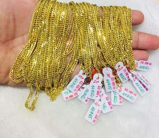 Pure gold chain necklace