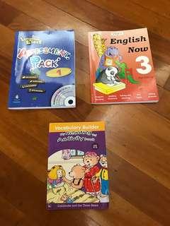 Children English book & exercise x 3 books