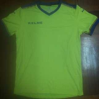 Kelme Shocking Yellow Jersey No.87