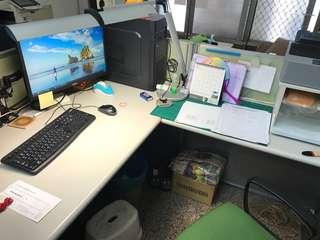 辦公桌屏+桌面,不含桌面上的東西