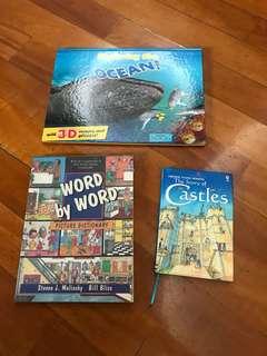 English fun & story books x 3 books