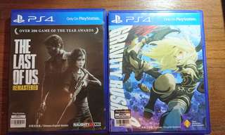 PS4 遊戲, PS4 GAMES, The Last Of Us/Gravity Rush