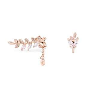🆕 Made in Korea 玫瑰金夾式耳環