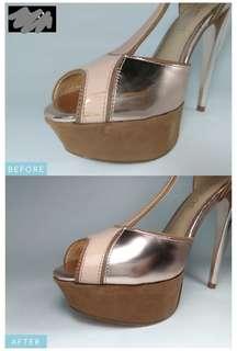 ALDO heels AFTER cleaning+repair