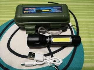 USB 50000W Super Bright Torch Light