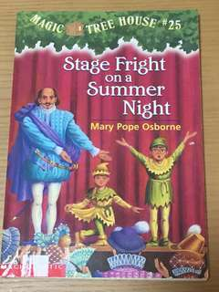 Magic Tree House Stage Fright on a summer night