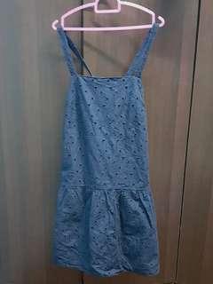 Uniqlo Navy Eyelet Dress M size
