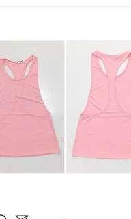 Pink gym tank