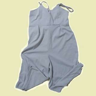 Gray Jumpsuit Cullotes