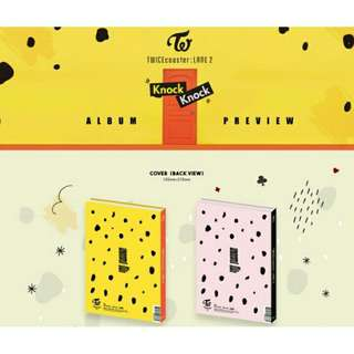 TWICE KNOCK KNOCK ALBUM (YELLOW/PINK)