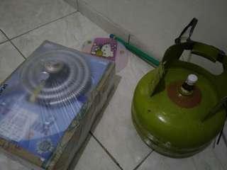 SET Kompor Progas + Selang Regulator Winngas + Gas isi full