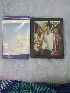 GTA V premium version PS3 (w/blueprint and game map)