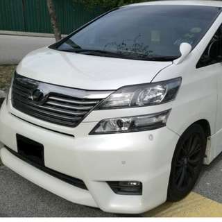 TOYOTA VELLFIRE 2.4 Z PLATINUM WITH ORIGINAL 5.1 CH HOME THEATER