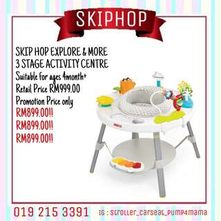 Skiphop explore & more 3 stage activity centre