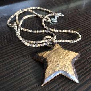 包郵 椰殼星星頸鏈 Star Necklace