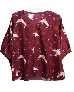 Swan blouse maroon