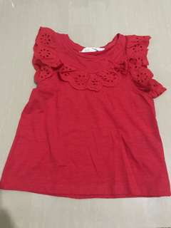 Used Once Only H&M Red Top
