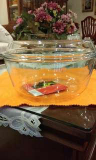 glass casserole with lid