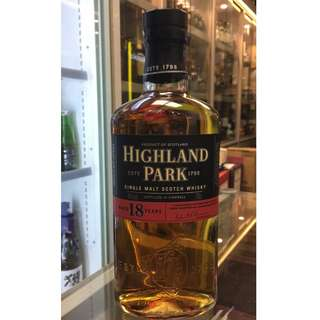 Highland Park 18 Years Old Single Malt Scotch Whisky