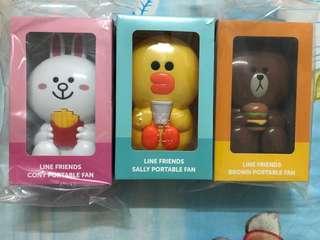 McDonald's mini fans(brown,cony,sally)