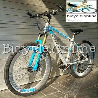 "Chromed Aluminium MTB / Dkaln 26"" Mountain Bike ☆ Corrosion Resistance! ☆ Microshift 27Speeds ☆ Sports Rims ☆ brand new bicycles"