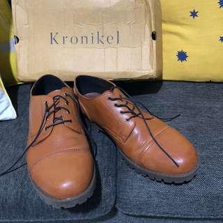 Sepatu boots pantofel kulit size 44