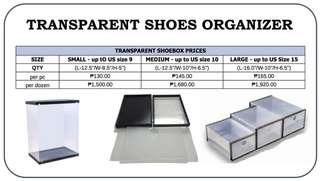 Transparent Shoes Organizer