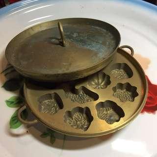 Vintage Brass Kueh Bahulu Mould