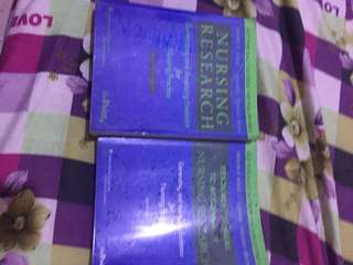 Nursing research book with manual