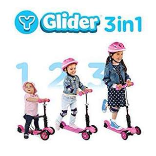Yvolution Glider 3 in 1 Scooter