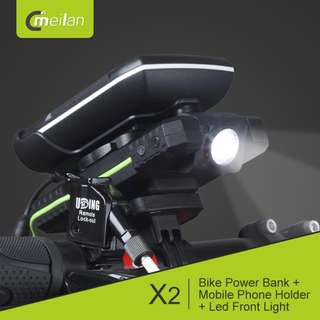 Meilan X2 Bicycle/scooter/DYU Phone Holder + Mobile Phone Charger + LED Headlight (Limited Stock)