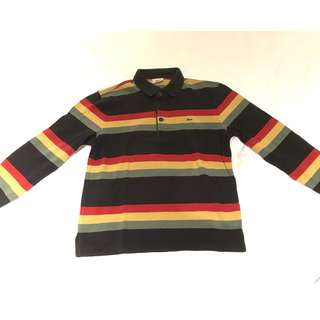 LACOSTE STRIPE POLO FRED PERRY STYLE
