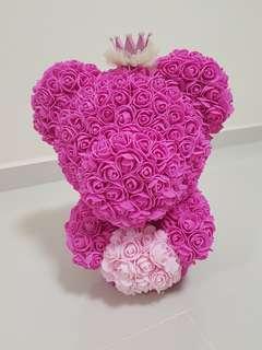 Crown Pink Rose Teddy valentine