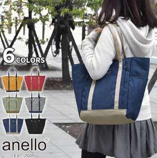 [Re-Stock] Japan Anello 10 Pockets Tote Shoulder Bag~ Original 100% Authentic ☆New Release ☆AT-C2247