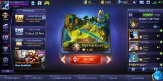 Mobile Legends Account Mythical Glory