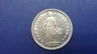 瑞士銀幣1931年1法郎 (同香港1元差吾多大小)近完美