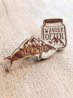 Adventure Wooden Pin