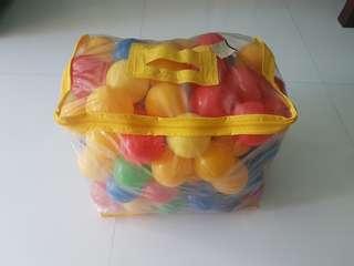 Plastic Balls 100 Pcs