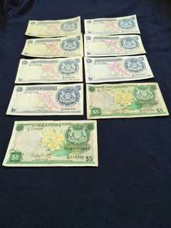 sg old notes   9pc offer $128