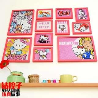 PO Hello Kitty DIY Gem Pic w Frame
