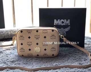 MCM Visetos Mini Camera Bag - beige