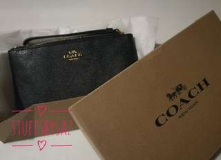 (Authentic and New) Black Coach Wristlet (Big)