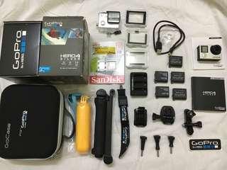 GoPro Hero 4 Silver Complete Set