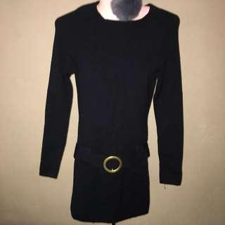 Long thin knit top