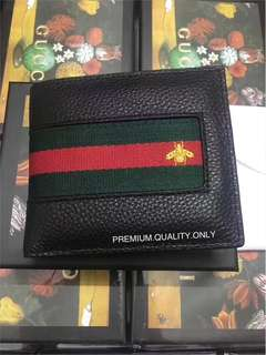 Gucci Bee Leather Wallet for Men