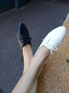 KOREAN WHITE LEATHER SHOES